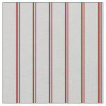 [ Thumbnail: Dark Red and Light Gray Colored Lined Pattern Fabric ]