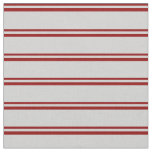 [ Thumbnail: Dark Red and Light Gray Colored Lines Fabric ]