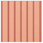 [ Thumbnail: Dark Red and Light Salmon Lined/Striped Pattern Fabric ]