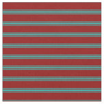 [ Thumbnail: Dark Red and Light Sea Green Colored Pattern Fabric ]