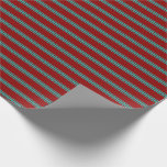 [ Thumbnail: Dark Red and Light Sea Green Colored Pattern Wrapping Paper ]