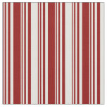 [ Thumbnail: Dark Red and Light Yellow Colored Stripes Fabric ]