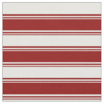 [ Thumbnail: Dark Red and Mint Cream Colored Lines Fabric ]