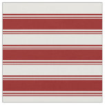 [ Thumbnail: Dark Red and Mint Cream Colored Stripes Fabric ]