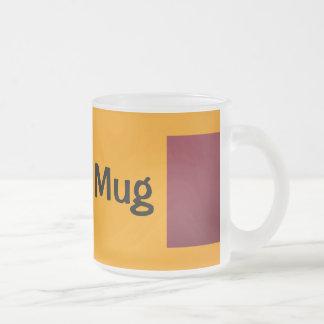 Dark Red and Orange 10 Oz Frosted Glass Coffee Mug