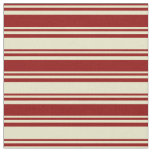 [ Thumbnail: Dark Red and Pale Goldenrod Pattern Fabric ]