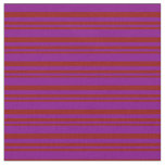 [ Thumbnail: Dark Red and Purple Colored Pattern Fabric ]