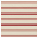 [ Thumbnail: Dark Red and Tan Lines Pattern Fabric ]