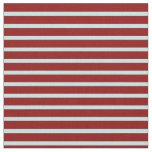 [ Thumbnail: Dark Red and Turquoise Lines Fabric ]