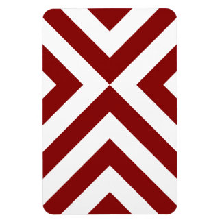 Dark Red and White Chevrons Flexible Magnet