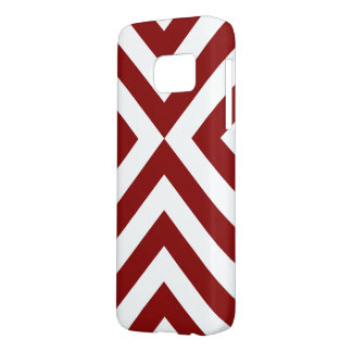 Dark Red and White Chevrons Smartphone Case