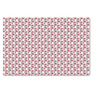 Dark Red and White Soccer Ball Tissue Paper