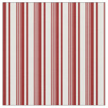 [ Thumbnail: Dark Red and White Stripes Fabric ]