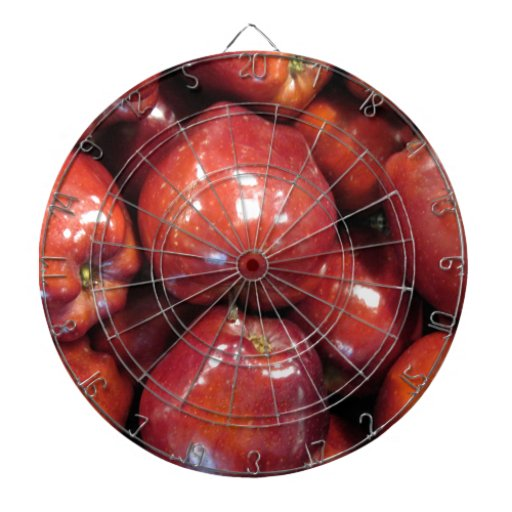 Dark Red Apples Dart Boards