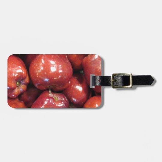 Dark Red Apples Luggage Tag