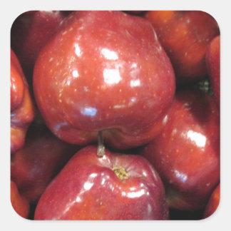 Dark Red Apples Square Sticker