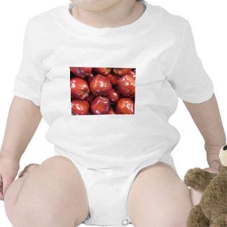 Dark Red Apples Romper
