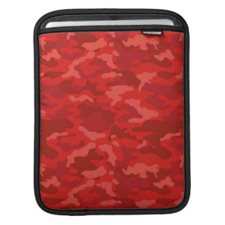Dark Red Army Military Camo Camouflage Pattern iPad Sleeve