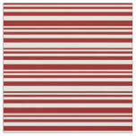 [ Thumbnail: Dark Red & Beige Striped/Lined Pattern Fabric ]