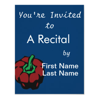 Dark Red bell pepper top view graphic 4.25x5.5 Paper Invitation Card