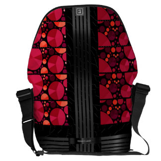 Dark Red Black Bling Courier Bag