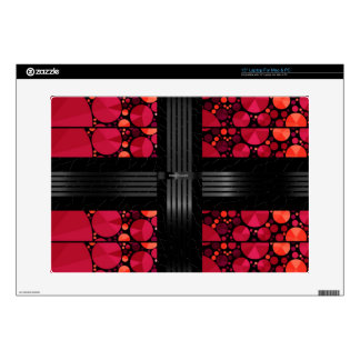 Dark Red Black Bling Laptop Skins