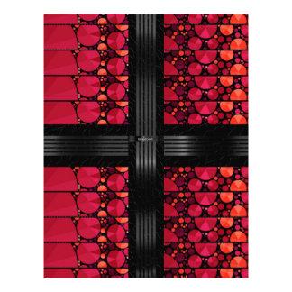 Dark Red Black Bling Letterhead