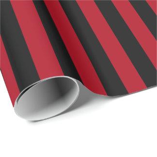 Dark Red/Black Stripe Wrapping Paper