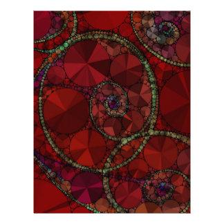 Dark Red Bling Pattern Letterhead