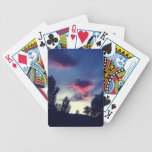 Dark Red & Blue Clouds Playing Cards