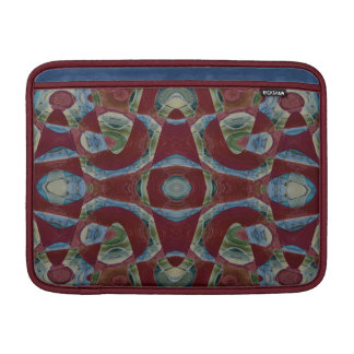 dark red blue mosaic abstract sleeve for MacBook air