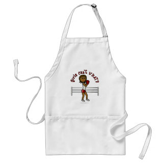 Dark Red Boxing Girl Adult Apron
