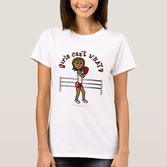 Dark Red Boxing Girl T-Shirt