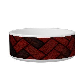 Dark Red Brick Pattern Bowl