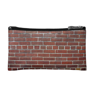 Dark Red Brick Wall Background Texture Cosmetics Bags