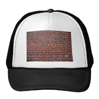 Dark Red Brick Wall Background Texture Trucker Hats