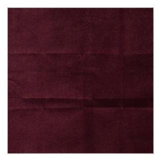 Dark Red Burgundy Creased Background Poster