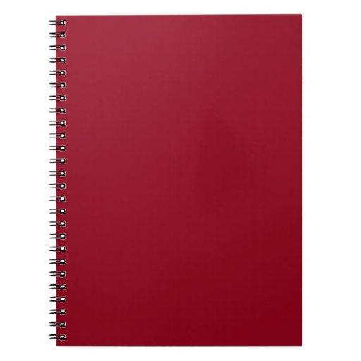 Dark Red Burgundy Notebook