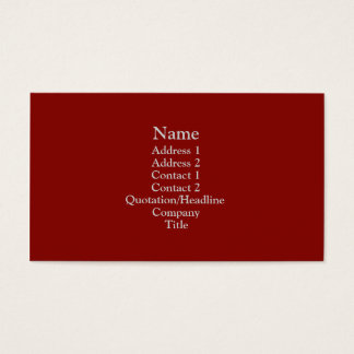 Dark Red Business Card