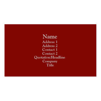 Dark Red Business Card Template