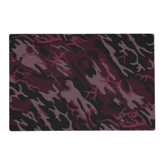 Dark Red Camo Placemat