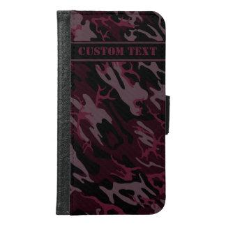 Dark Red Camo Smartphone Wallet w/ Text