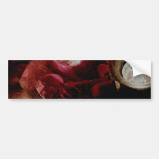 Dark Red Candlelight Oil Painting Bumper Sticker