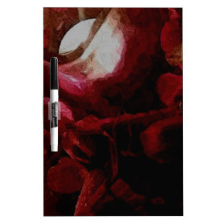 Dark Red Candlelight Oil Painting Dry Erase Board