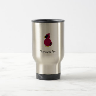 Dark red cardinal 15 oz stainless steel travel mug