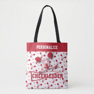 Dark Red Cheerleader Girl - All Over Print Tote Bag