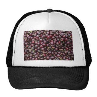 Dark Red Cherries in a Market Display Trucker Hat