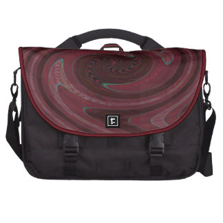 Dark Red Circle Abstract Commuter Bag