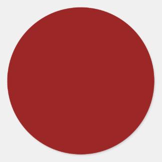 Dark Red Classic Round Sticker