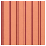 [ Thumbnail: Dark Red & Coral Colored Lined Pattern Fabric ]